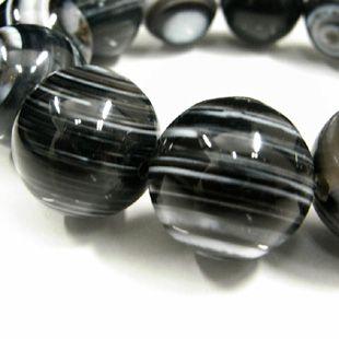 ブラック天眼石ブレスレット 18mm玉