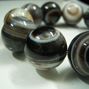 天眼石ブレスレット 18mm玉 (チベットメノウ)