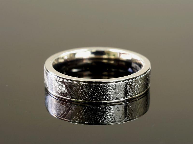 ギベオン隕石 リング・指輪 (ギベオン+チタン)Type2