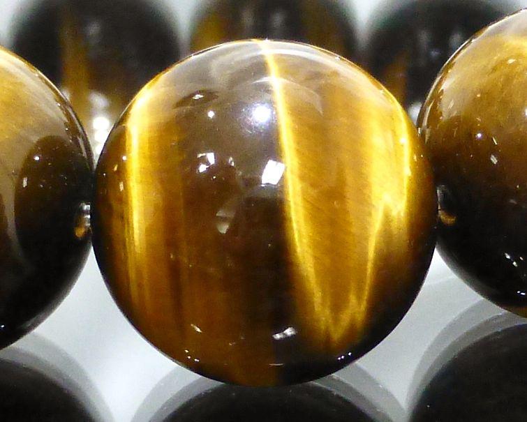 タイガーアイ ブレスレット 18mm玉 最高級(5A)