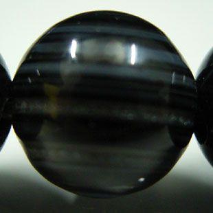 ブラック天眼石ブレスレット 8mm玉
