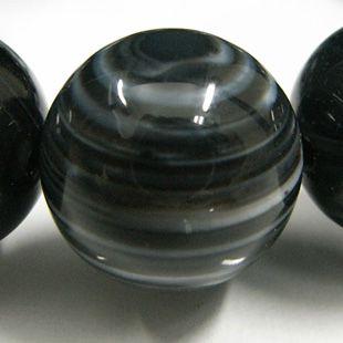 ブラック天眼石ブレスレット 14mm玉