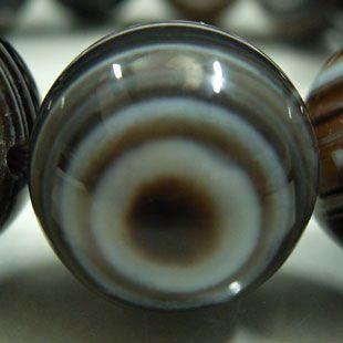 天眼石ブレスレット 16mm玉 (チベットメノウ)
