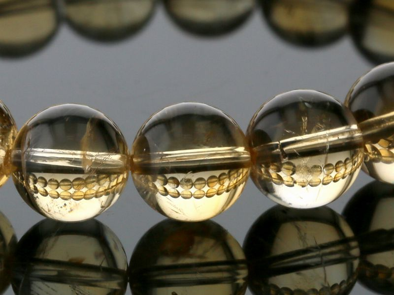シトリン ブレスレット 10mm玉 No.10