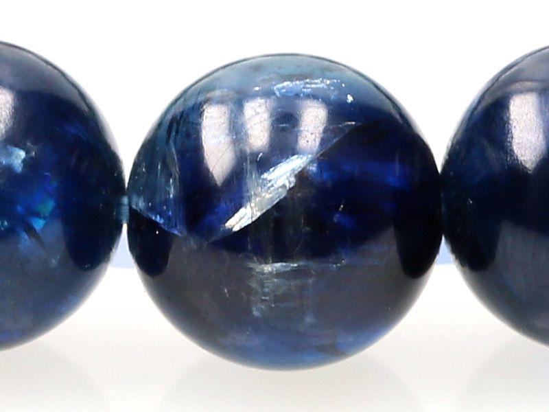 カイヤナイト (タンザニア産) ブレスレット 9.5mm玉 No.39 【プレミアム】