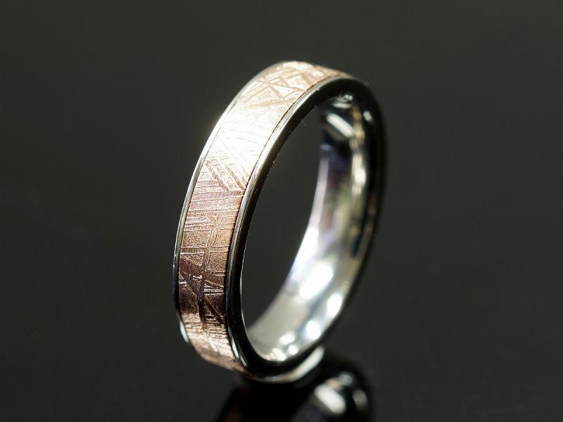 ギベオン隕石 リング・指輪 (ギベオン+チタン)Type2 [コッパー]