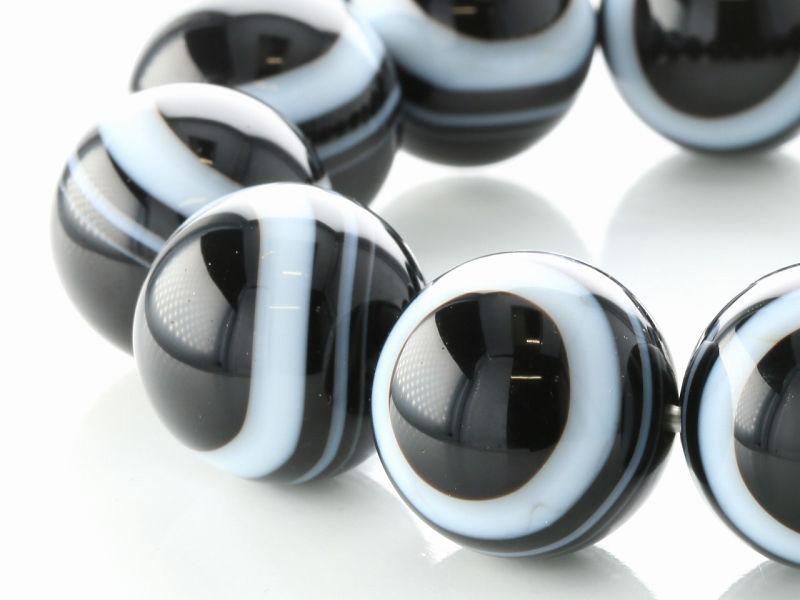 ブラック天眼石 ブレスレット 20mm玉 No.5