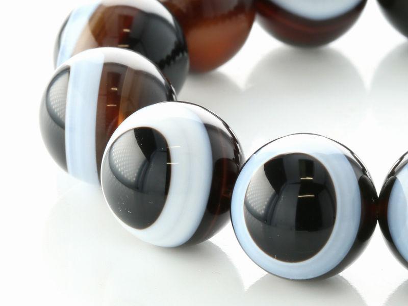 ブラック天眼石 ブレスレット 16mm玉 No.2