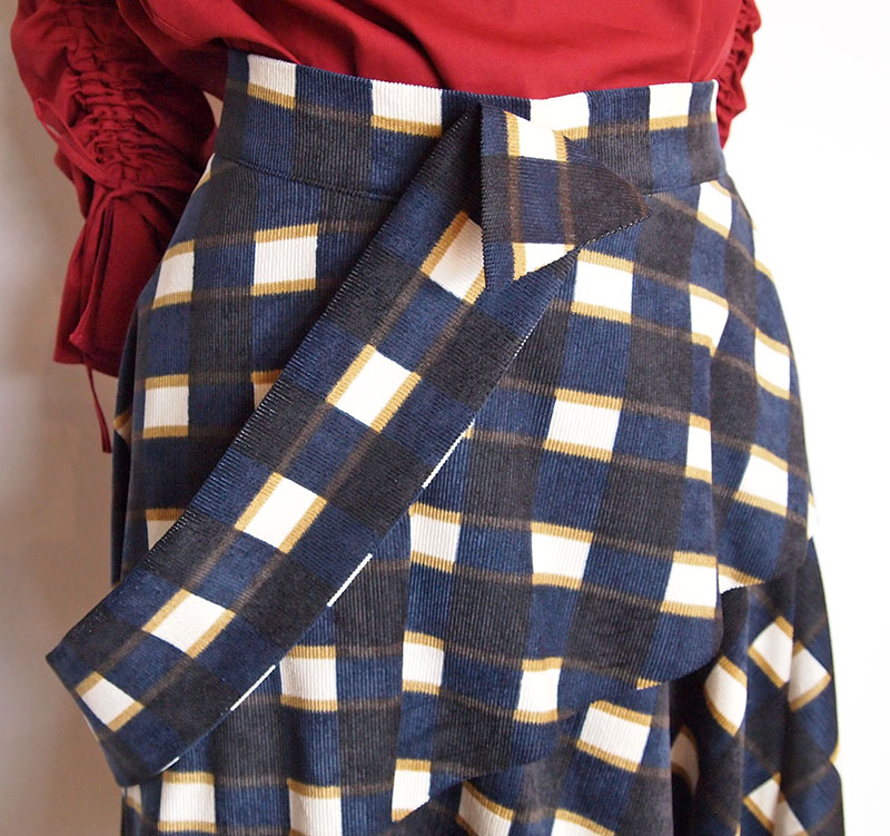 チェック柄デザインスカート/Xapis 7120