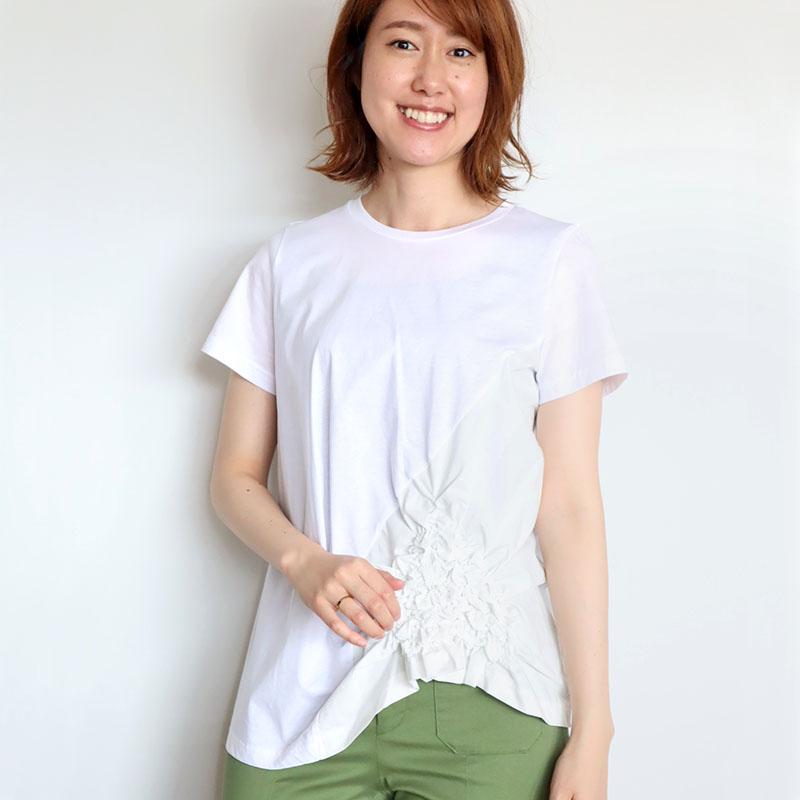 お花シャーリングデザインTシャツ/Coomb 8137
