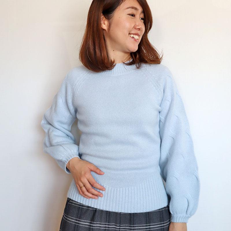 お袖ボリュームカシミヤニット/DUAL VIEW 8239