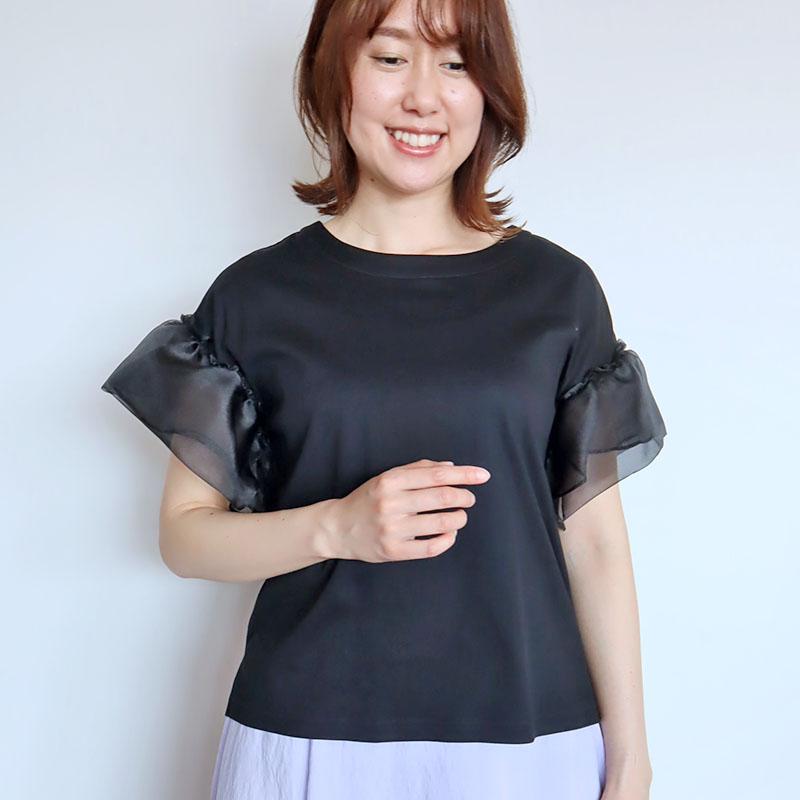 お袖オーガンジーTシャツ/FIGNO 8341