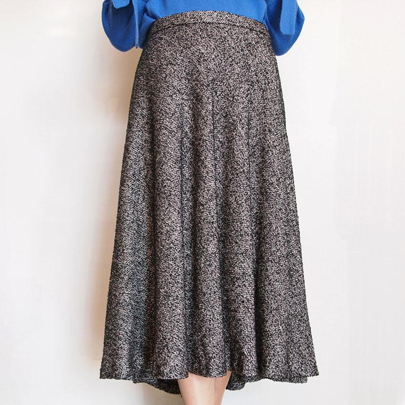 ツィードフレアースカート/B7 745
