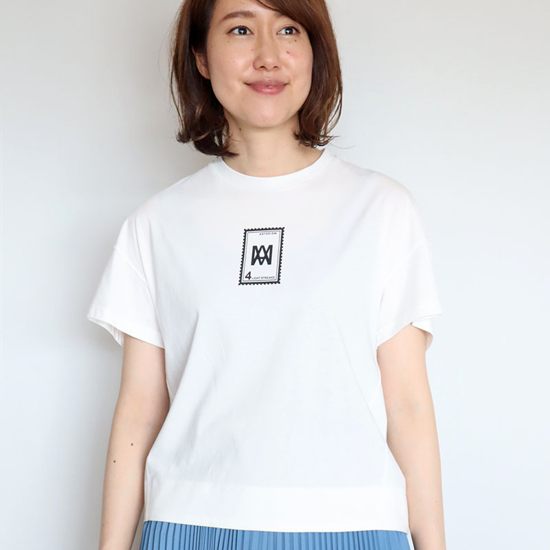 切手ロゴTシャツ/Mia 8149