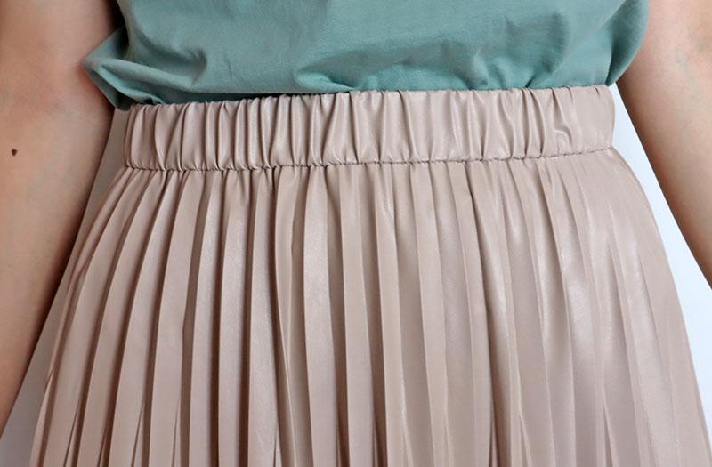 フェイクレザープリーツスカート/VIVA PRESTO 8450