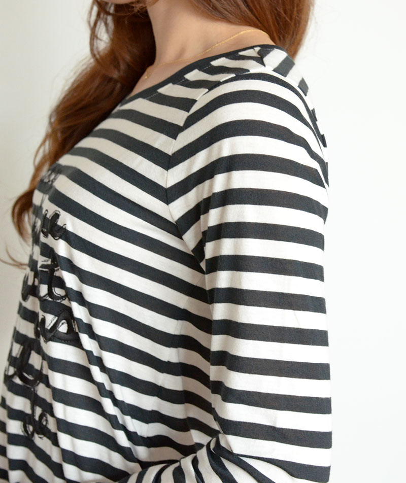 ロゴ刺繍フィッシュテールロングTシャツ/Coomb 7059