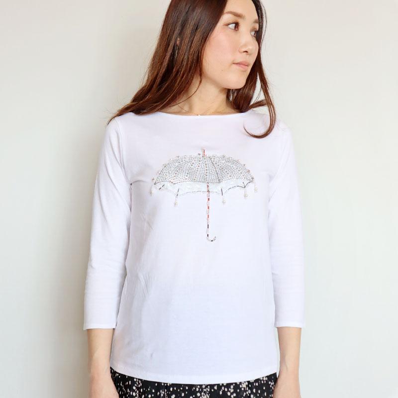 ビジューアンブレラTシャツ/DUAL VIEW 8066