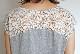 バックレーススリットロングTシャツ/CHILLEA 8166