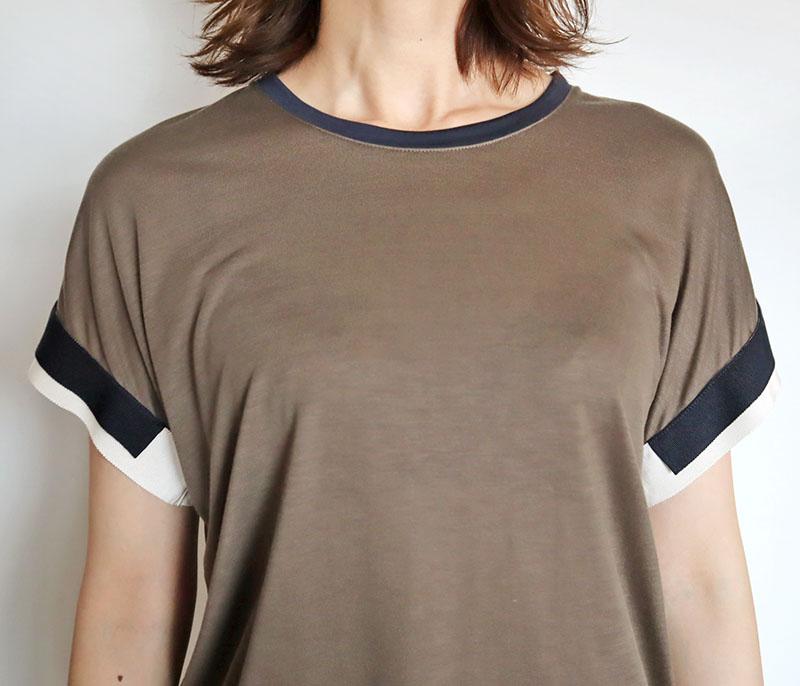 お袖グログランテープTシャツ/CHILLEA 8170