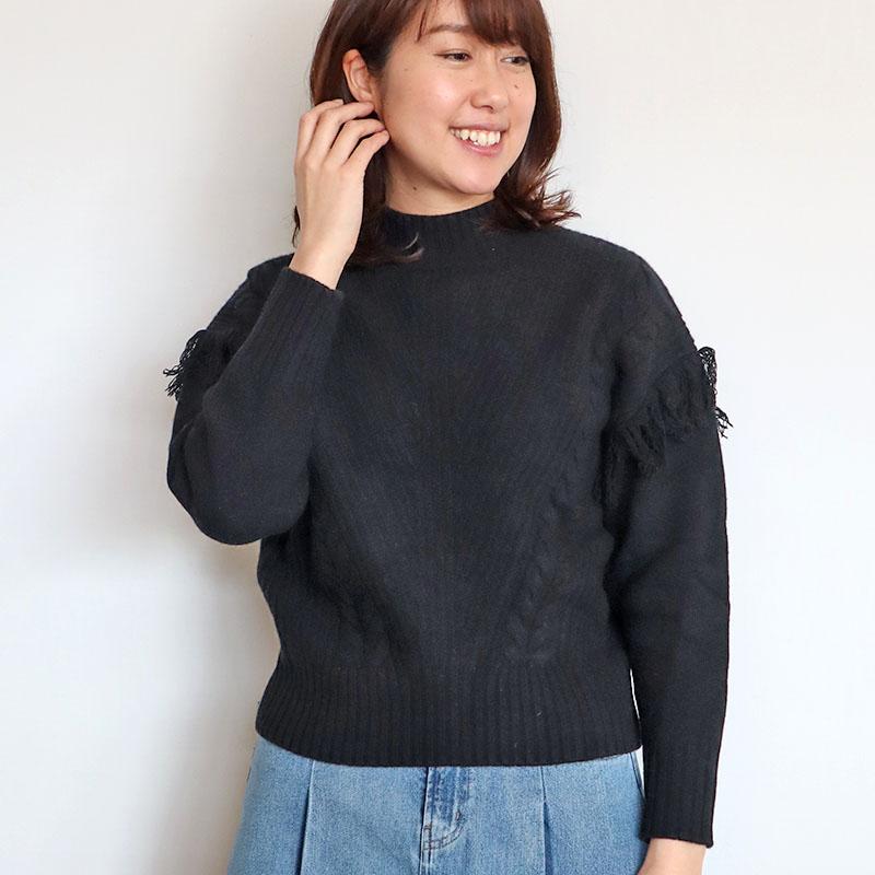 お袖フリンジニット/BLUE FRONCE 8278