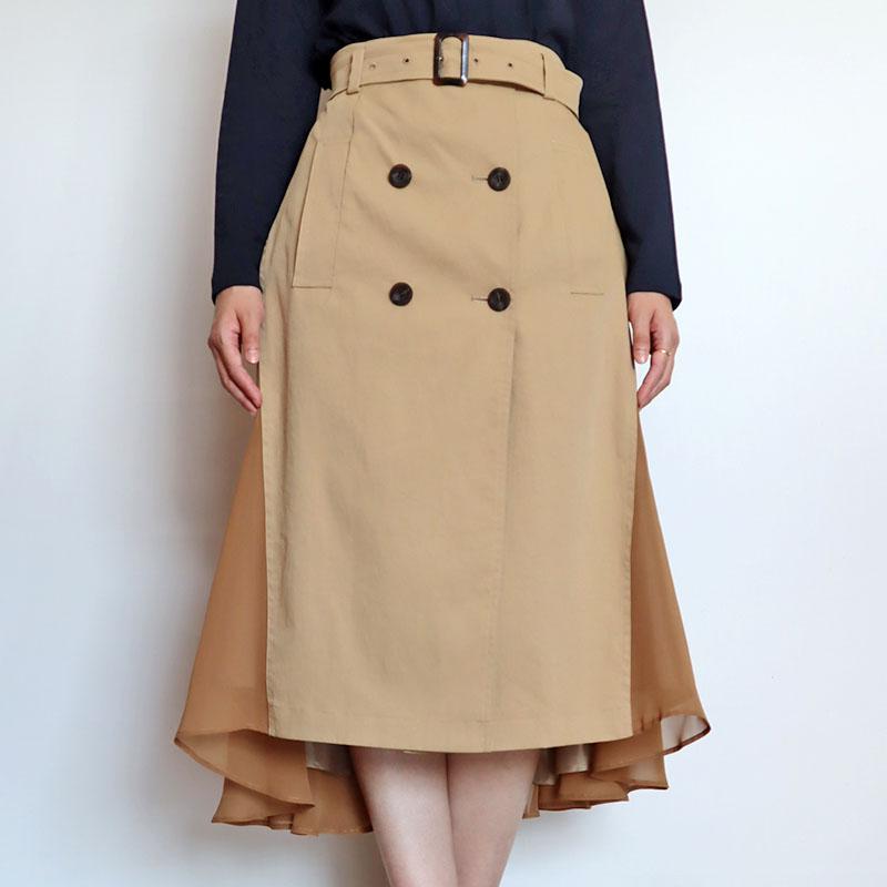 トレンチフィッシュテールスカート/COOMB 8181