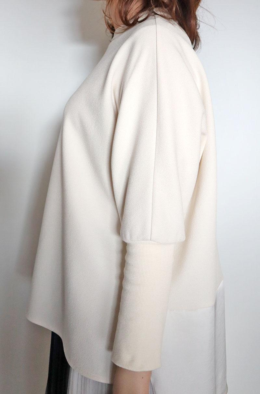 お袖リブ異素材プルオーバー/FIGNO 8301