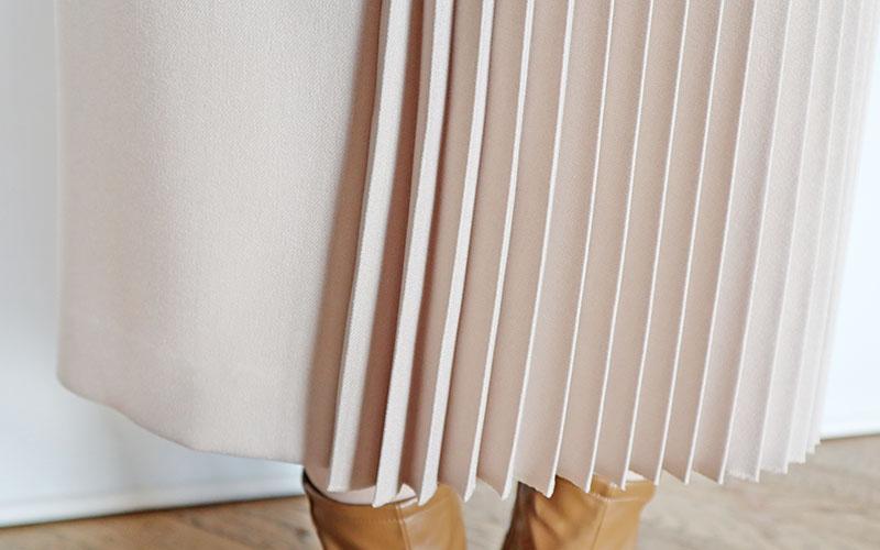 サイドプリーツセミタイトスカート/VIVA PRESTO 8209