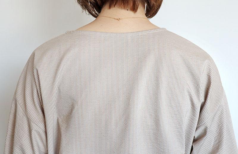 コットンリネンストライプTシャツ/CHILLEA 8112