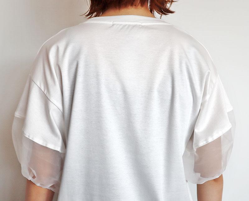 お袖チュールTシャツ/NOUQUE 8117