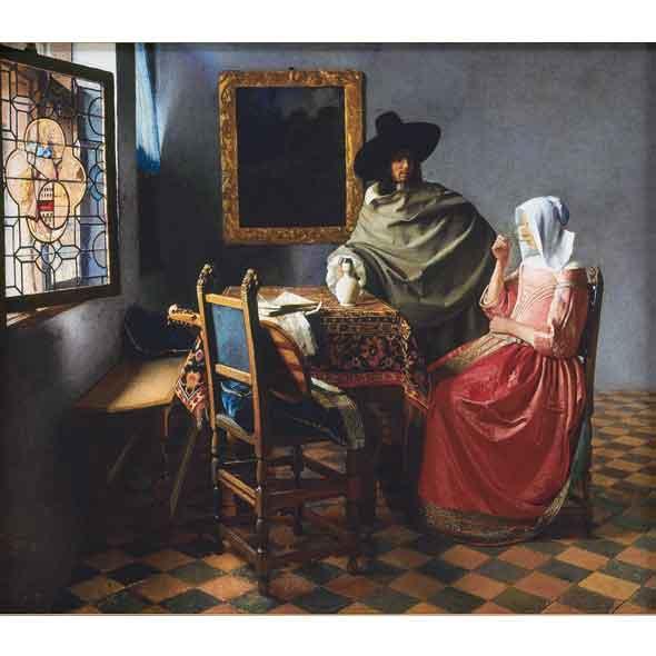 紳士とワインを飲む女/ヨハネス・フェルメール