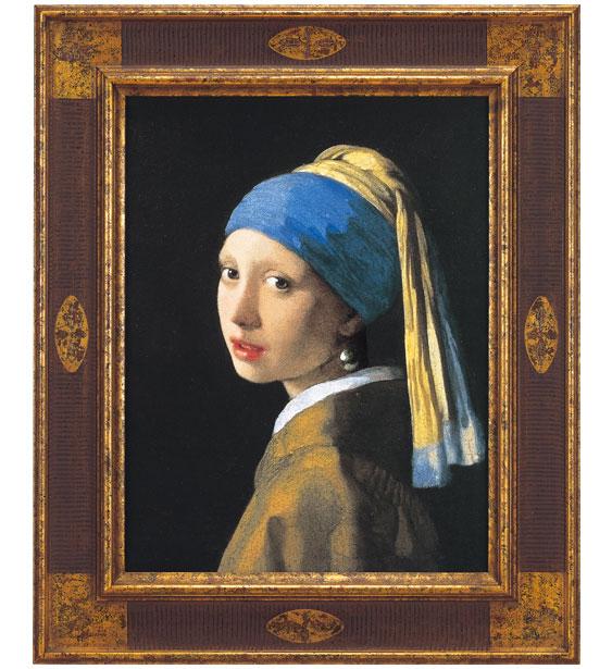 「真珠の耳飾りの少女(青いターバンの少女)」共同印刷版/ヨハネス・フェルメール