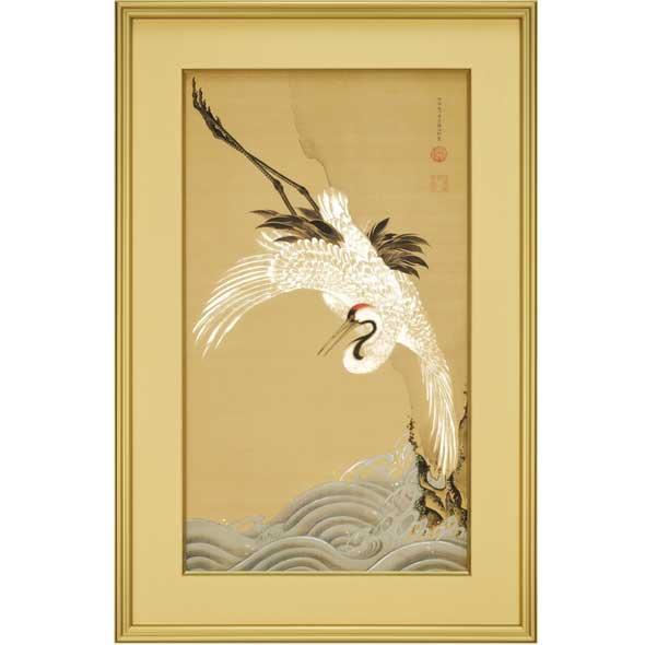 白鶴図(浪に鶴)/伊藤若冲