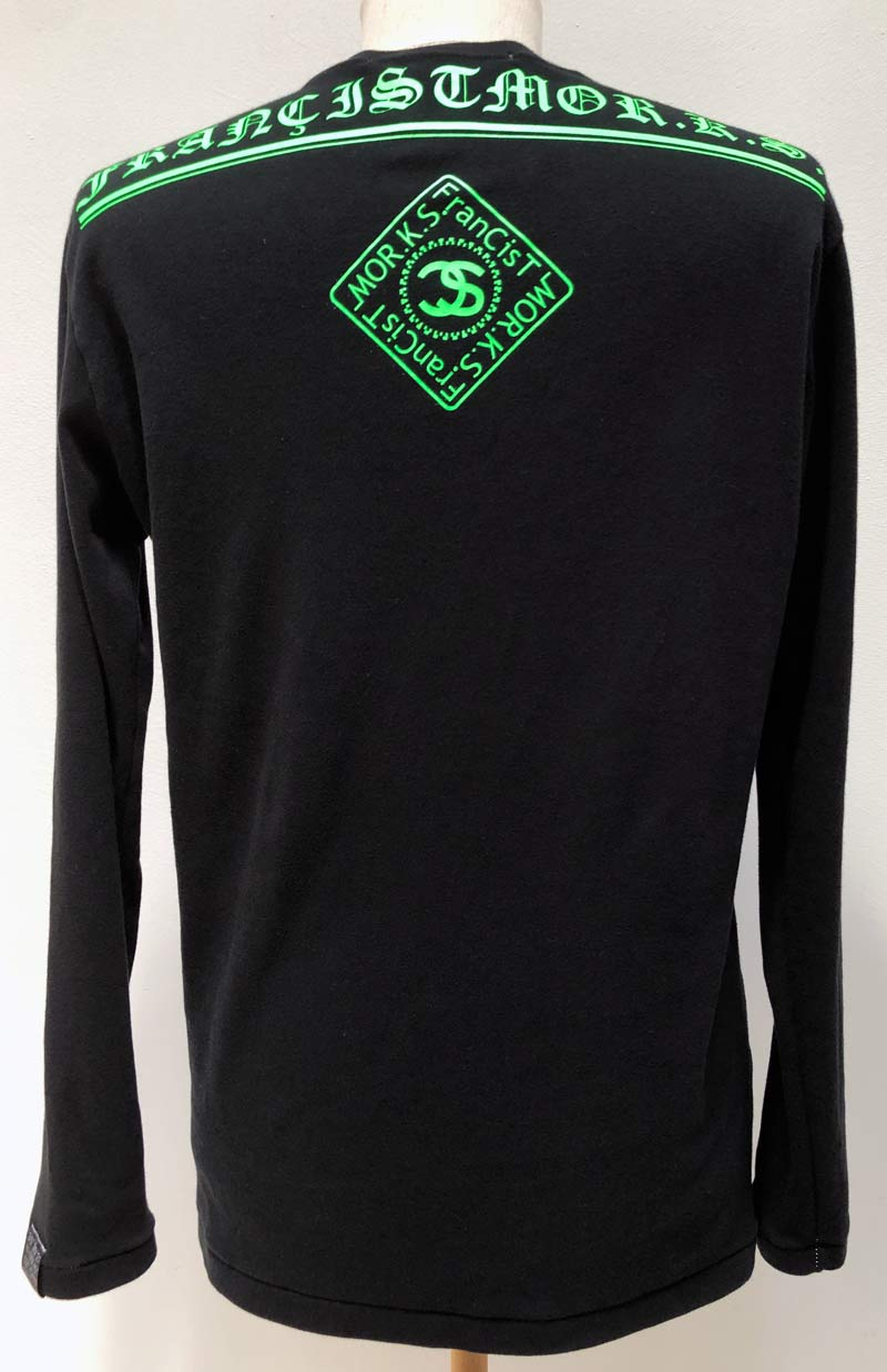 MT2849 C-Smooth BACK LOGO L/S TEE SHIRT  #09 BLK