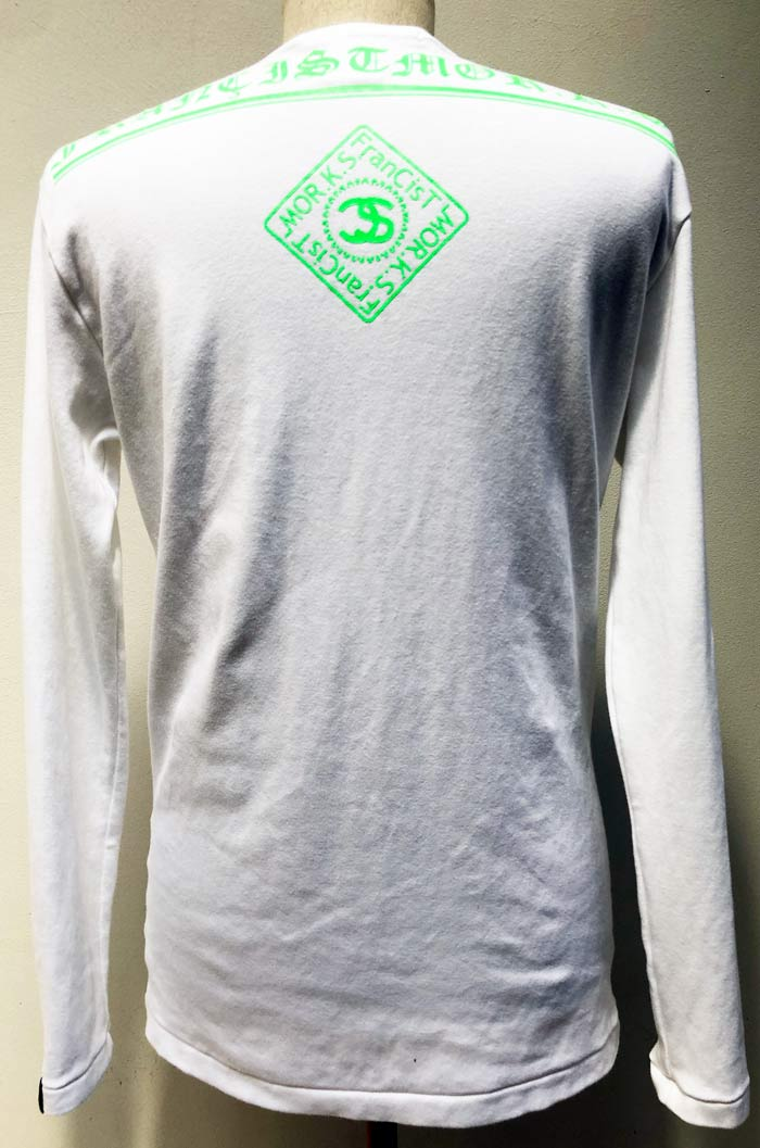 MT2849 C-Smooth BACK LOGO L/S TEE SHIRT  #01 WHT