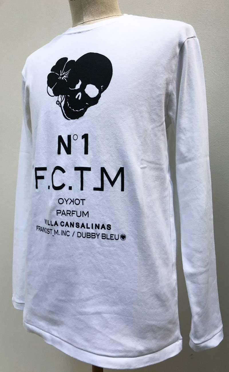 "MT2847 C-Smooth ""HIBISKULL N˙1 FCT_M PARFUM"" L/S TEE SHIRT  #01 WHT"