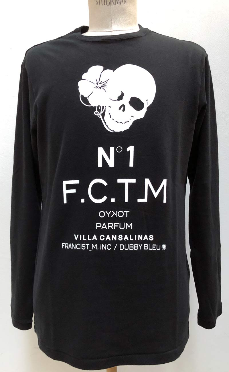 "MT2847 C-Smooth ""HIBISKULL N˙1 FCT_M PARFUM"" L/S TEE SHIRT  #09 BLK"