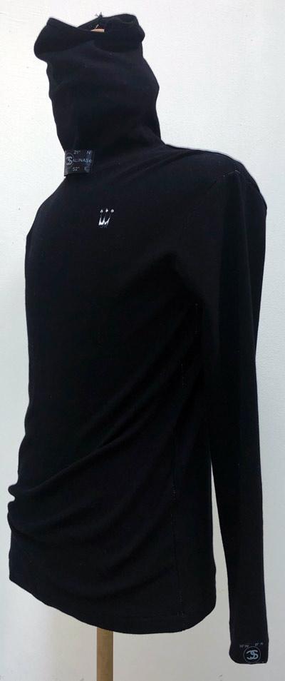 MT2855 C-Smooth Face Guard Neck L/S Shirt  #09 BLK