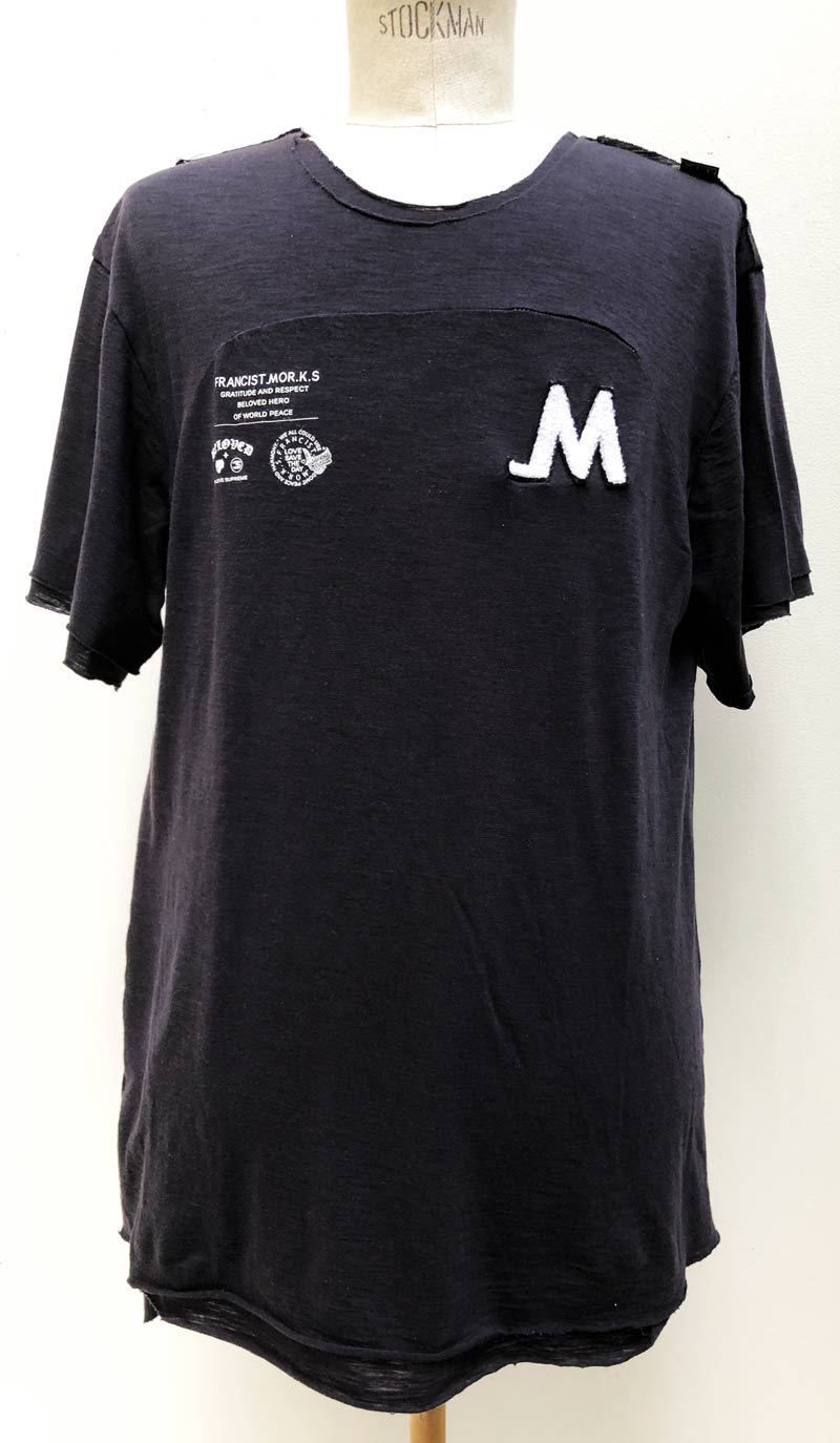 MT2806 C/Tencel Layered Love Save _M Rugger BIG TEE  #09 Black