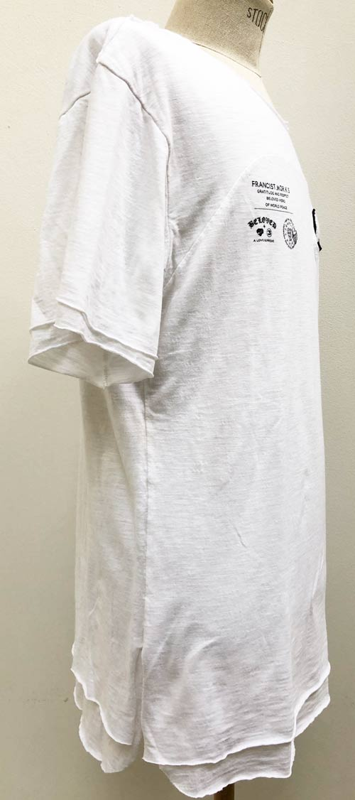MT2806 C/Tencel Layered Love Save _M Rugger BIG TEE  #01 White