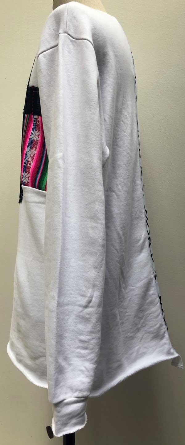 MC2777 7MIX PW Sweat Crew-Neck Big Pullover #01 White