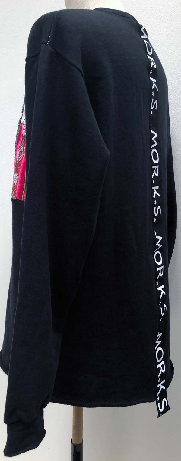 MC2777 7MIX PW Sweat Crew-Neck Big Pullover #09 Black