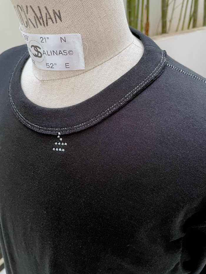 "MT2907 SANJOAQUIN COTTON Jersey L/S  ""with _M. Swarovski Crystal"" #09 BLK"