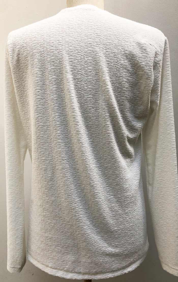 MT2802 Random Pile 3Stars FCTM V-Neck Long Sleeve Shirt #01 White