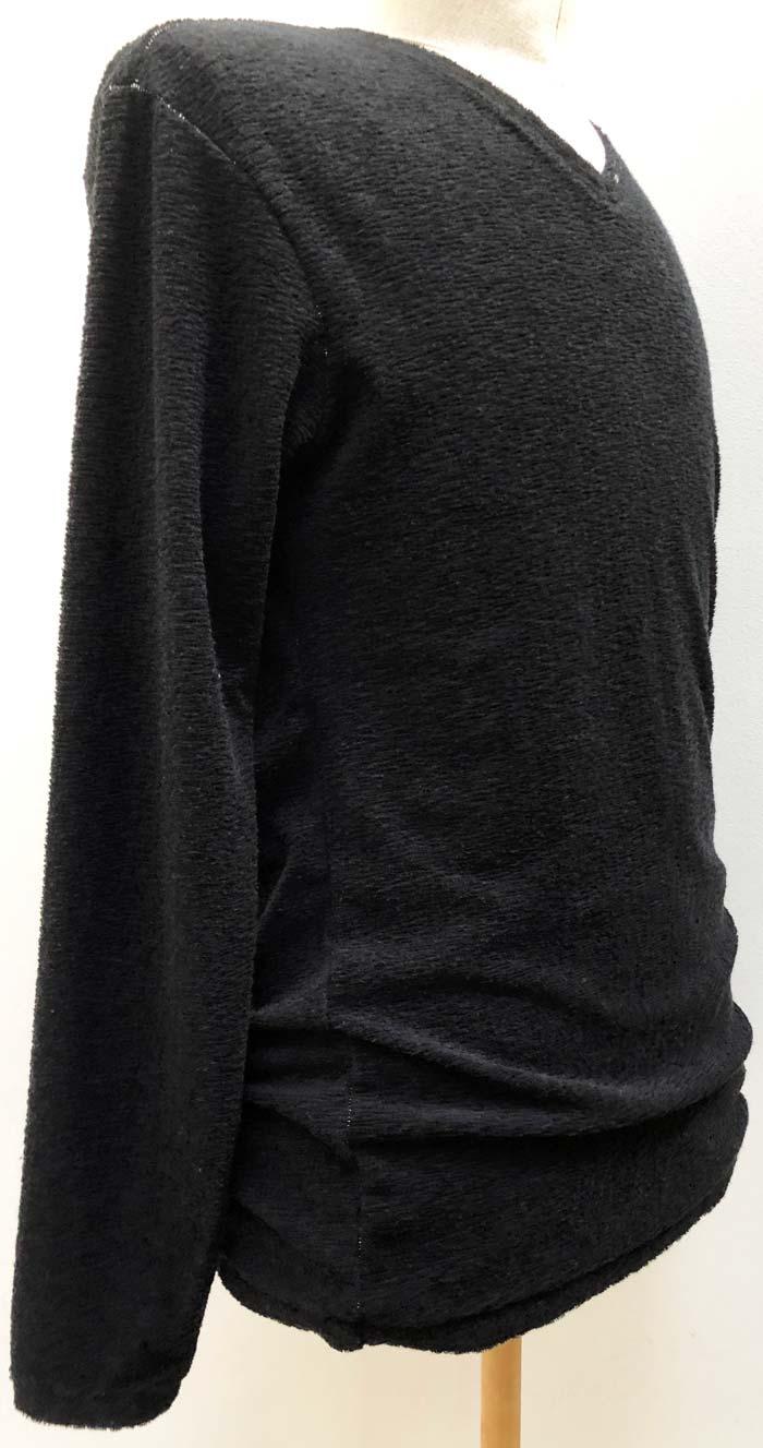 MT2802 Random Pile 3Stars FCTM V-Neck Long Sleeve Shirt #09 Black