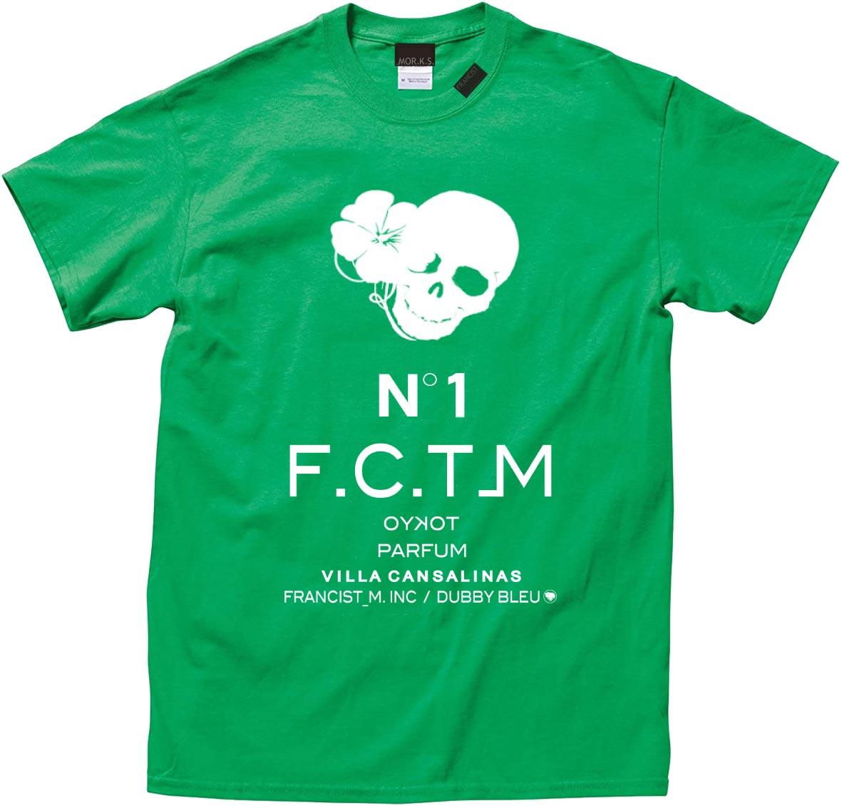 MT2839 US Body : HibiSkull N˚1 PARFUM TEE Shirt  #74 Green