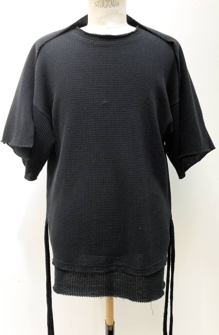 MT2809  Gauze Waffle Wings Flapping Big T-Shirt #09 BLACK