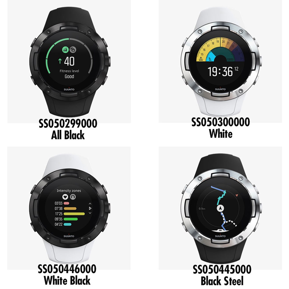 SUUNTO スント SUUNTO5 スント5 GPS スマートウォッチ メンズ レディース AllBlack SS050299000 SS050300000 SS050446000 SS050445000 時計 腕時計 山岳 登山 トレッキング ハイキング