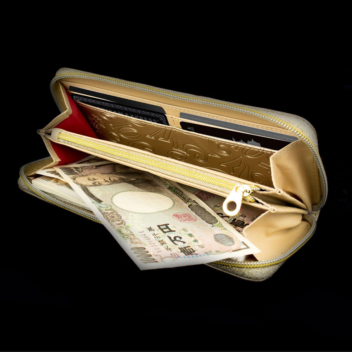 [フランク三浦] FMS01-GD 奇跡の財布 メンズ レディース ビッグマネーゴールド