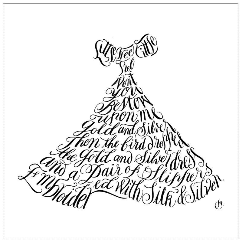 岡山井原デニム トートバッグ「シンデレラドレス」 刺繍