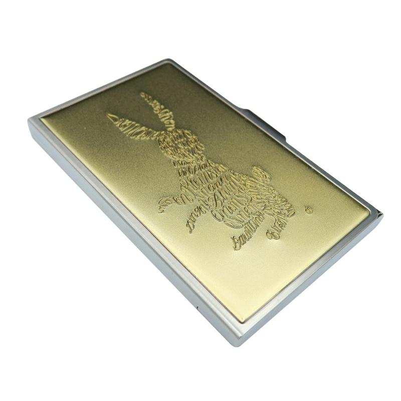 名刺ケース「うさぎ」金メッキ
